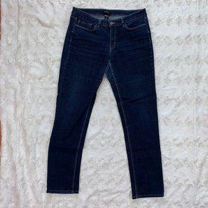 WHBM Dark Wash Contour Slim Jeans - Size 12L